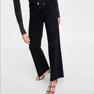 Zara The City Worker High Rise Black Jeans